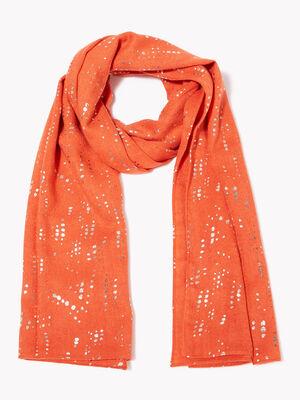 Foulard orange fonce femme