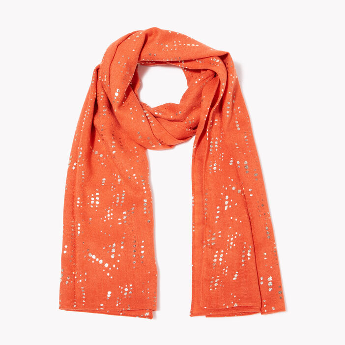Foulard orange foncé femme