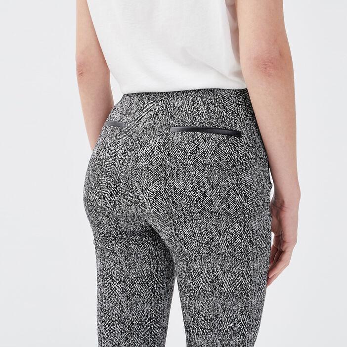 Pantalon tregging taille basculée blanc femme
