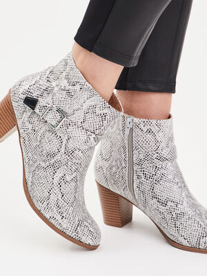 Bottines a talons avec sangle gris femme