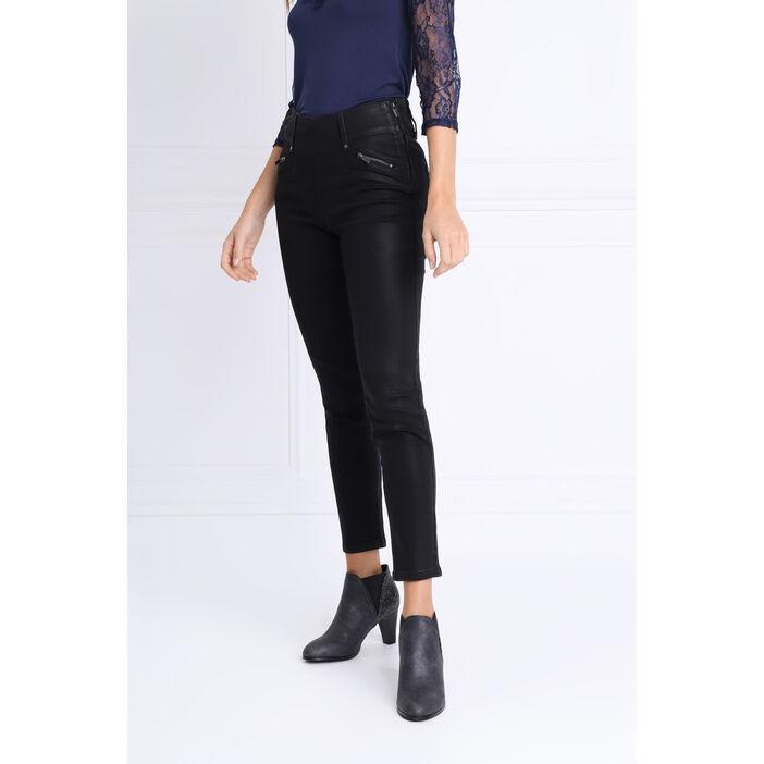 design élégant États Unis large éventail Pantalon tregging enduit noir femme   Vib's