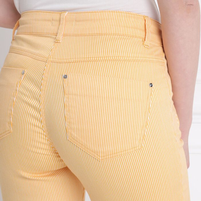 Pantalon taille standard jaune or femme