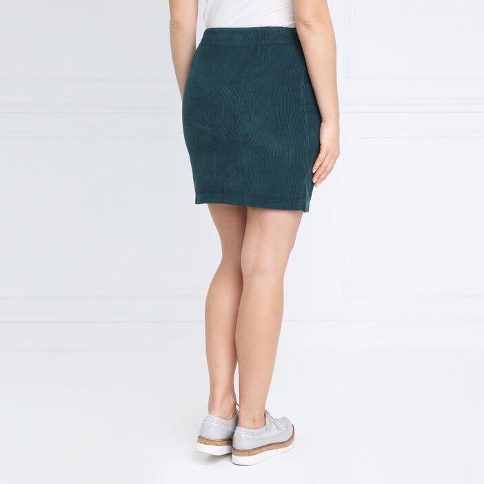 Jupe courte vert canard femme