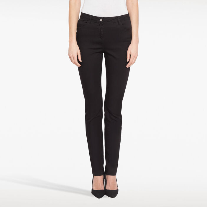 Pantalon push up taille haute noir femme