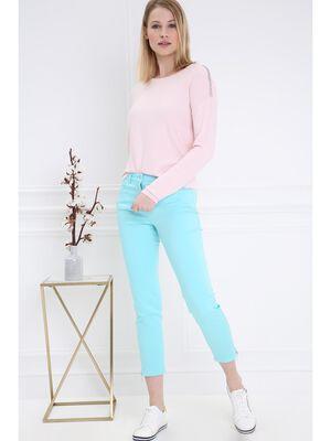 Pantalon 78 satin vert emeraude femme