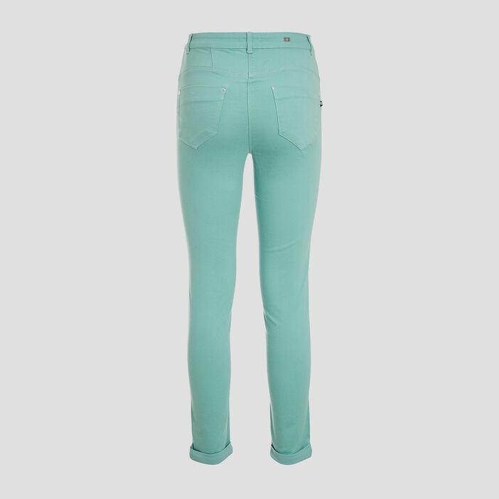 Pantalon ajusté vert menthe femme