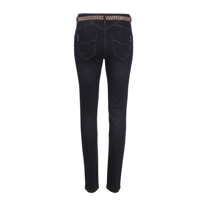 Jeans ajusté taille standard denim dirty femme