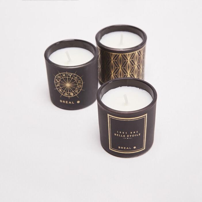 Lot 3 bougies noir femme