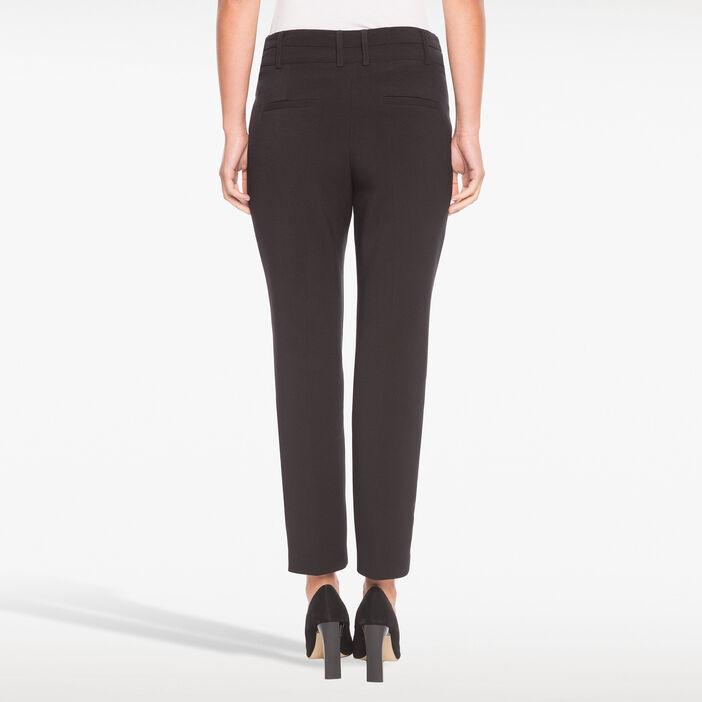 Pantalon 7/8e poches zippées noir femme