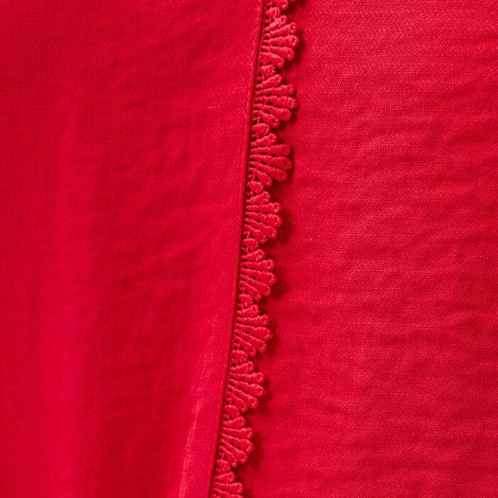 Blouse manches longues rouge foncé femme
