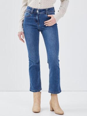 Jean large taille basculee denim stone femme