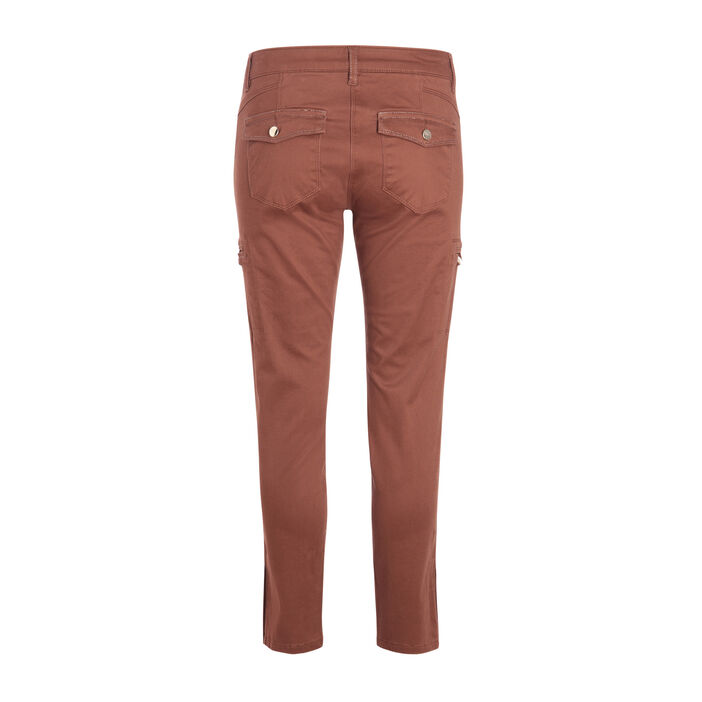 Pantalon ajusté 7/8ème marron femme