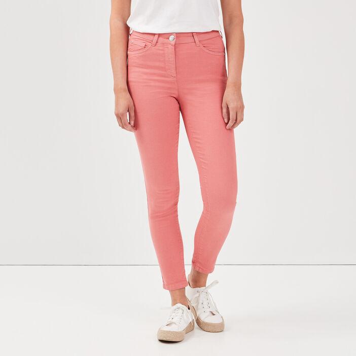 Pantalon léger toucher doux vieux rose femme