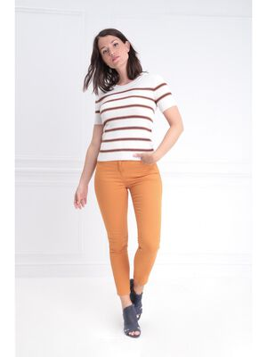 Pantalon 78 taille standard jaune moutarde femme