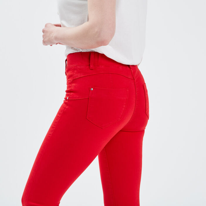Tregging taille standard rouge femme