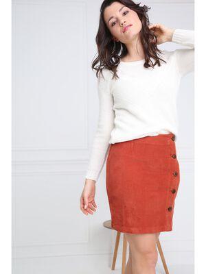 Jupe courte marron fonce femme