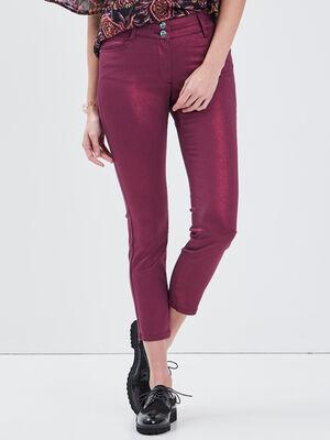 Pantalon ajuste 78eme rose framboise femme