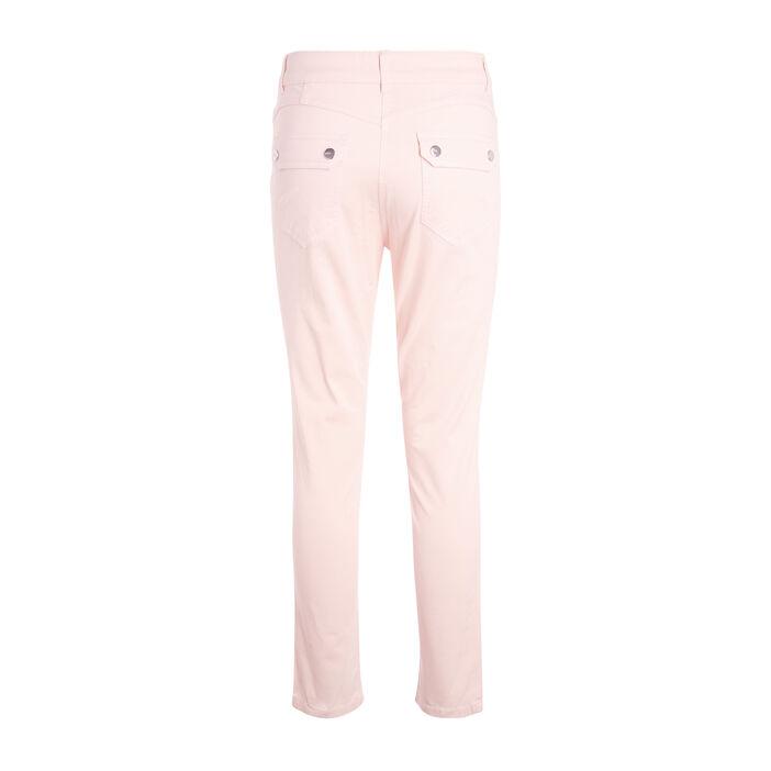 Pantalon taille standard rose clair femme