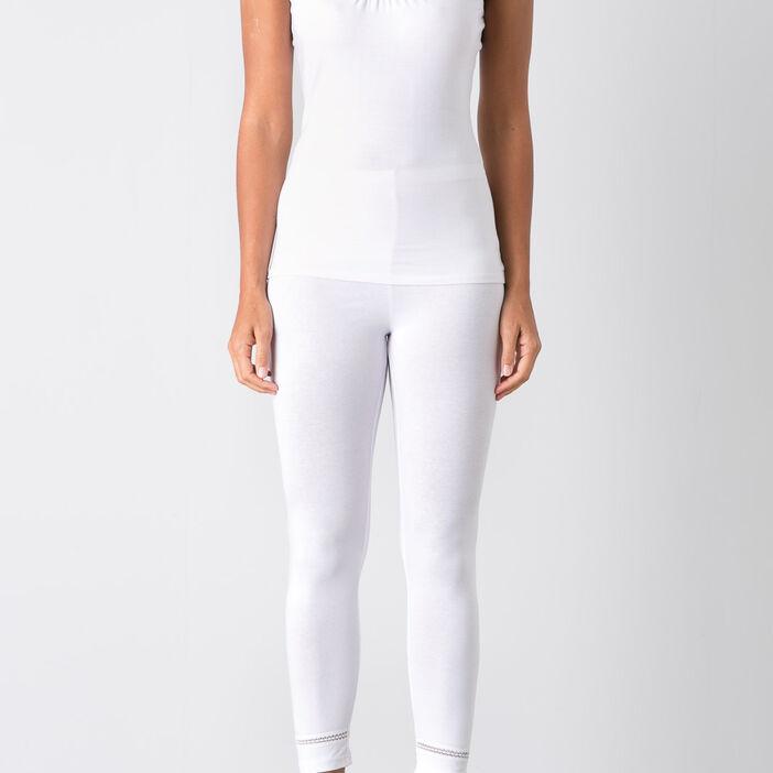 Legging taille standard blanc femme