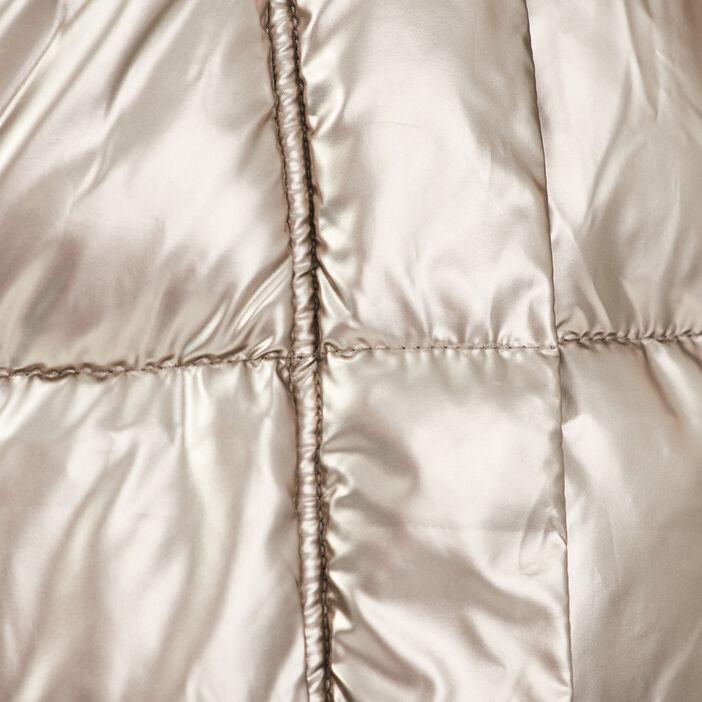 Doudoune cintrée à capuche gris femme