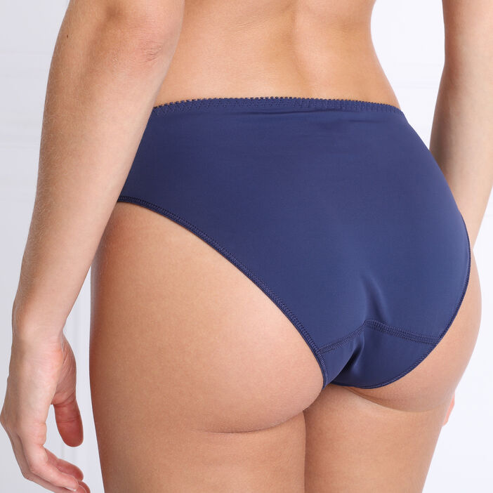 Culotte dentelle bleu marine femme