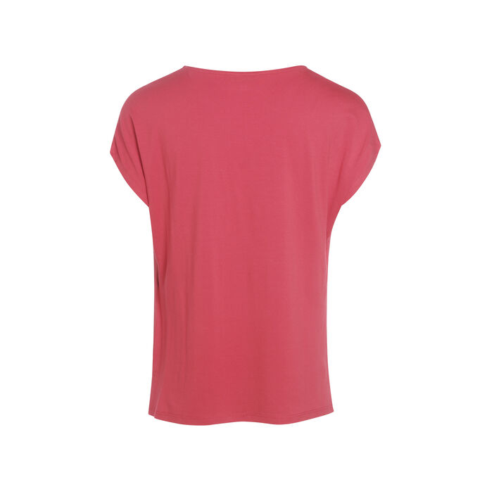 T-shirt manches courtes rouge femme