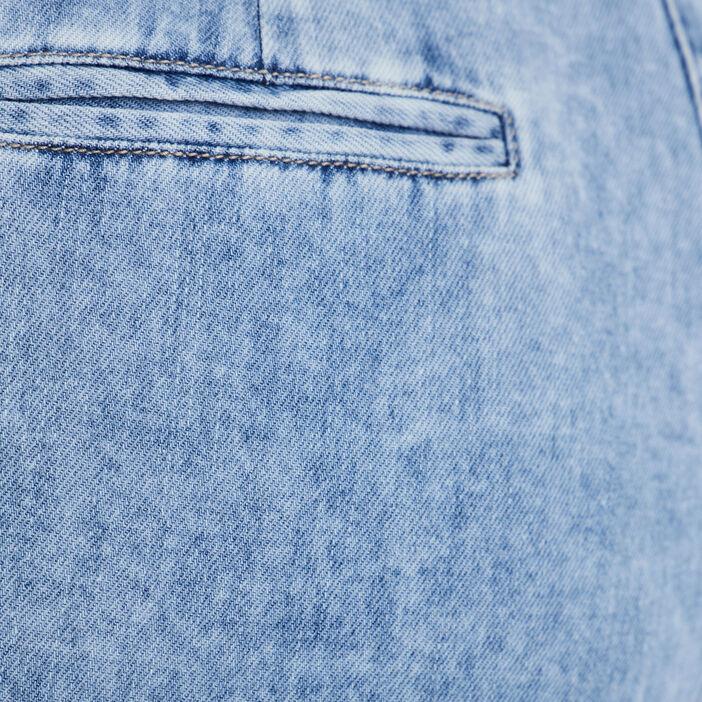Jean large taille haute denim double stone femme