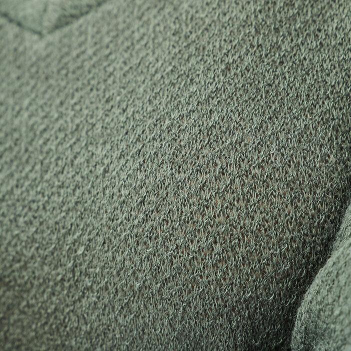 T-shirt manches 3/4 2-en-1 vert kaki femme