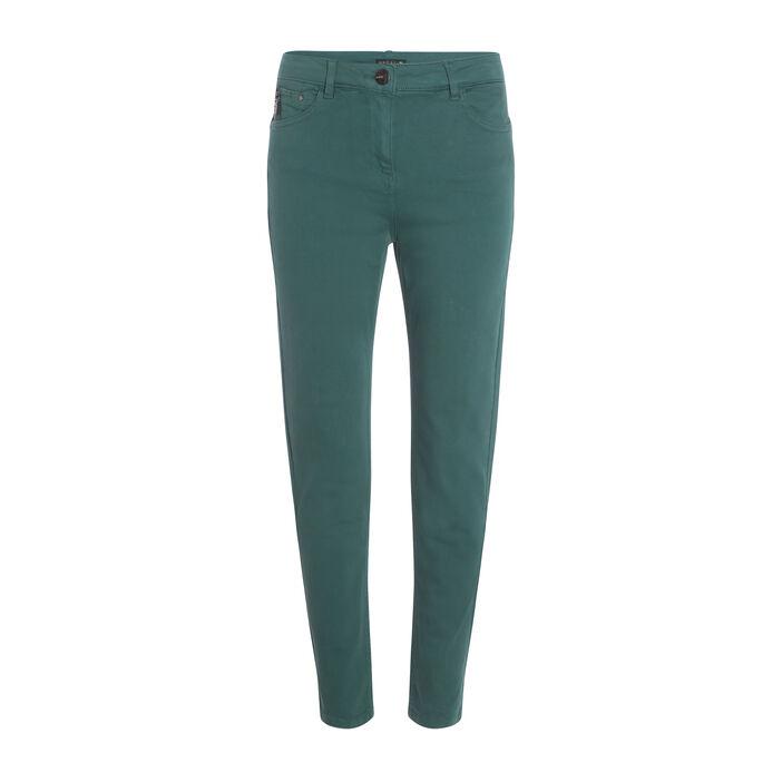 Pantalon 7/8ème taille standard vert canard femme