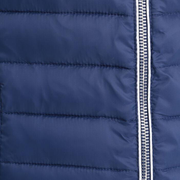 Doudoune droite zippée bleu marine femme