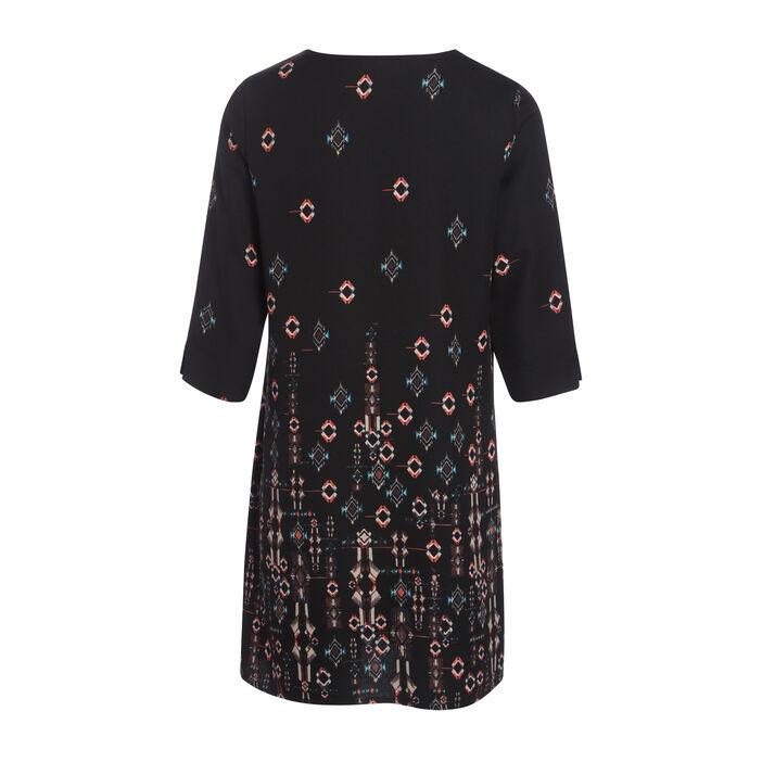 Robe imprimée d'inspiration orientale noir femme