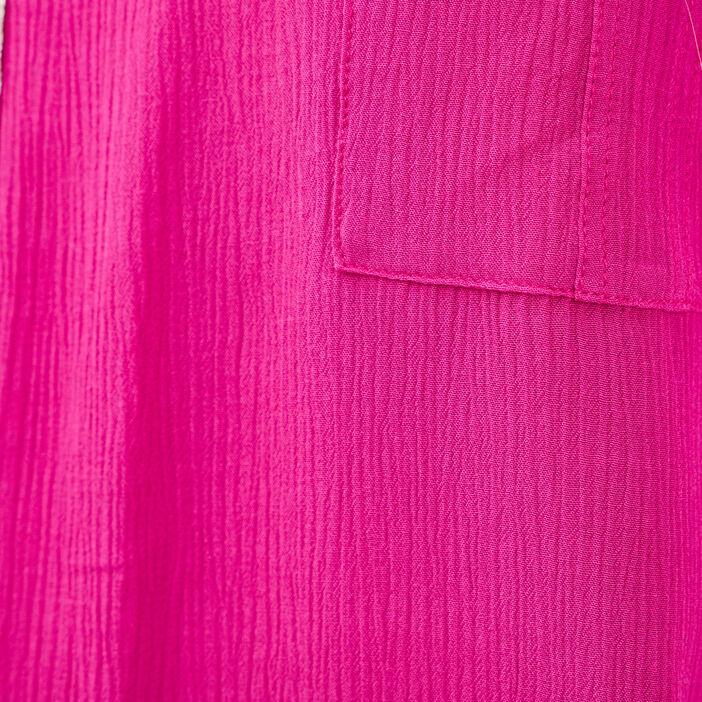 Blouse manches courtes rose fushia femme