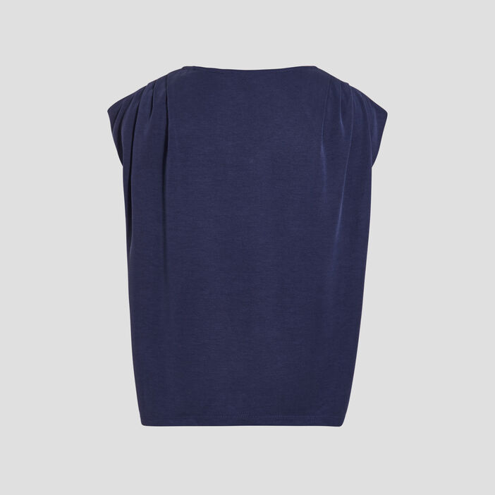 Débardeur bretelles larges bleu marine femme