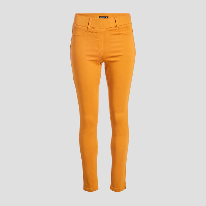Tregging taille standard jaune moutarde femme