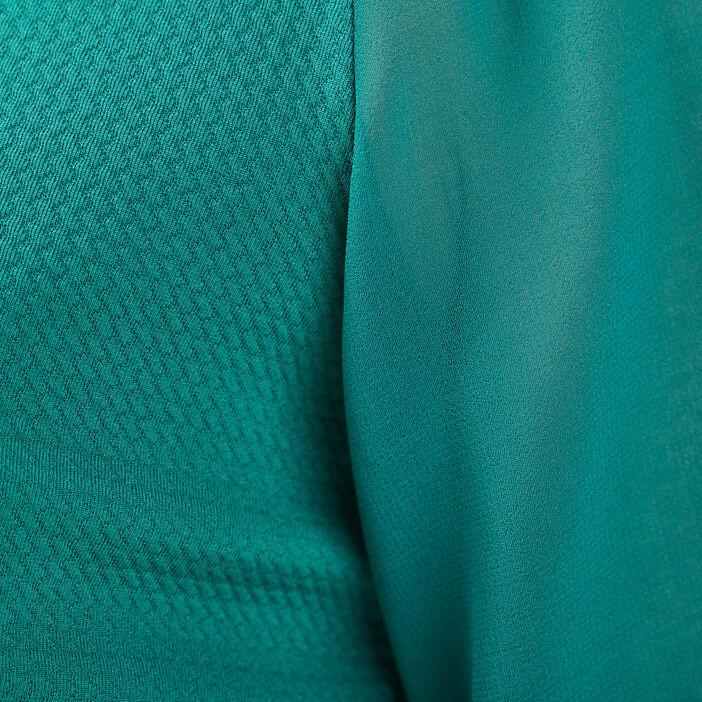 T-shirt manches longues vert émeraude femme
