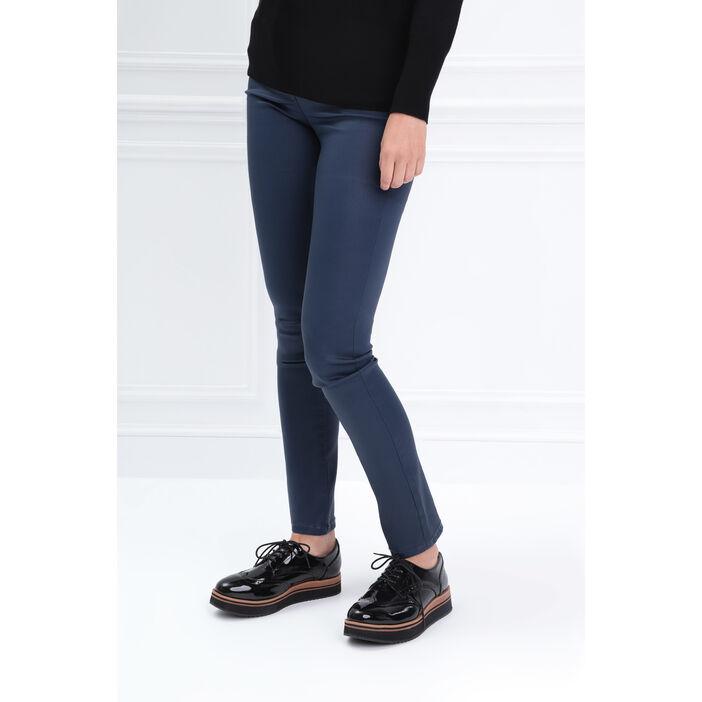 Pantalon ajusté basculée bleu marine femme