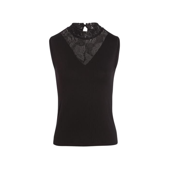 T-shirt bretelles larges noir femme