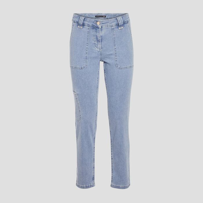 Jean droit taille standard denim double stone femme