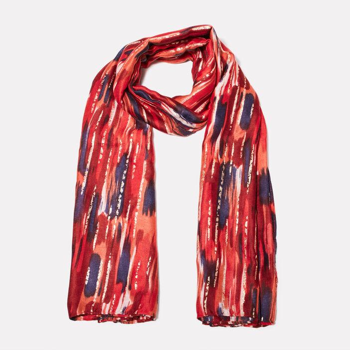 Foulard rouge foncé femme