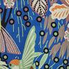 Robe droite manches courtes bleu electrique femme
