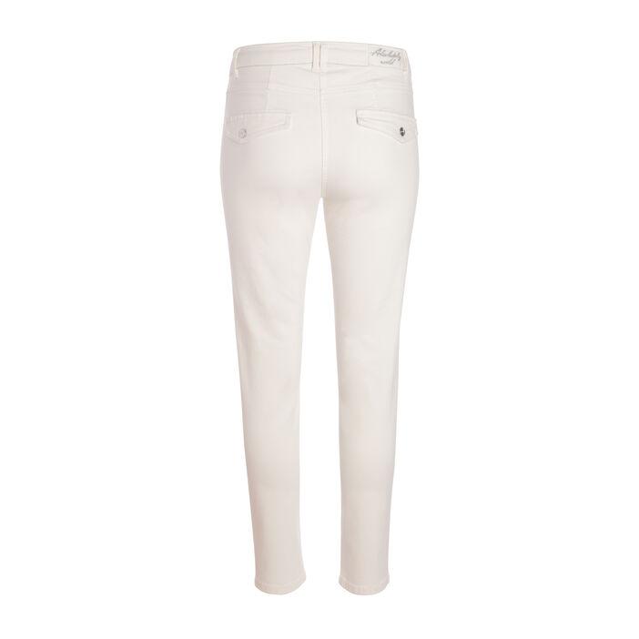 Pantalon avec poches apparentes ecru femme
