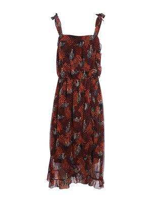 Robe longue imprimee noir femme