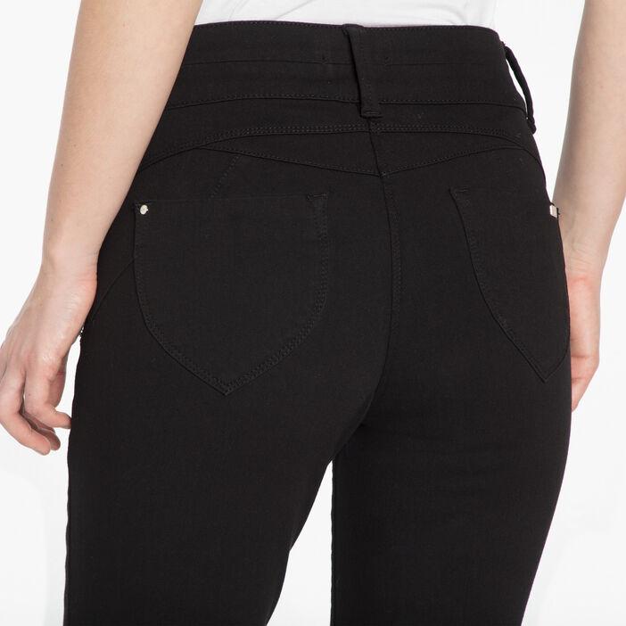Pantalon slim effet sculptant noir femme