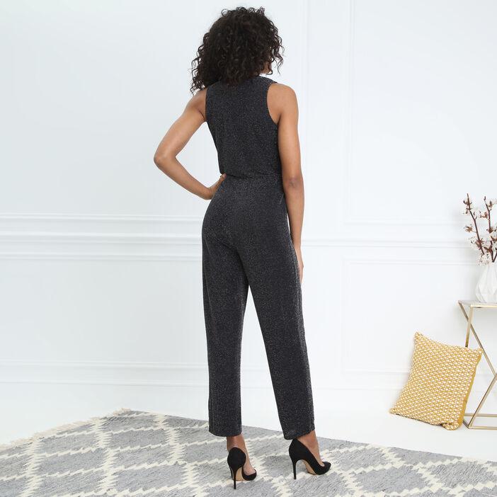Combinaison taille haute noir femme