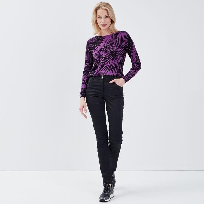 Sweat manches longues violet femme