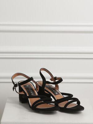 Sandales a brides talon carre noir femme