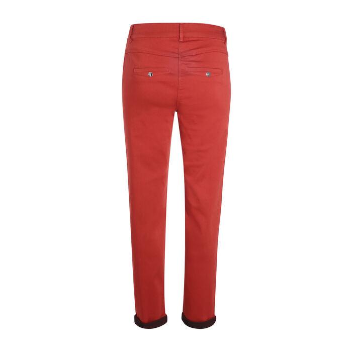 Pantalon taille standard orange foncé femme