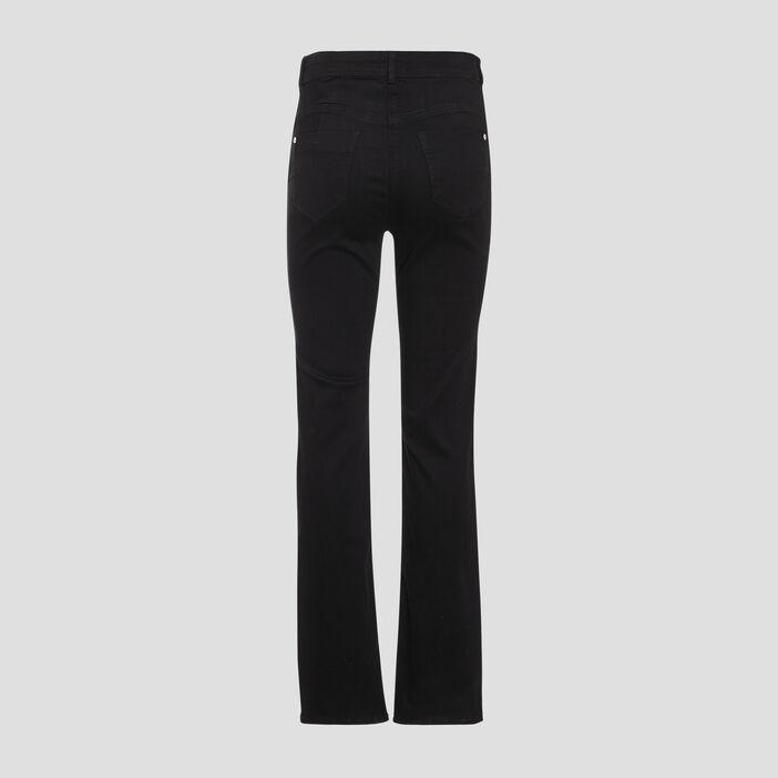 Jean droit taille standard noir femme