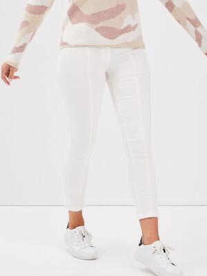 Pantalon ajuste 78eme ecru femme
