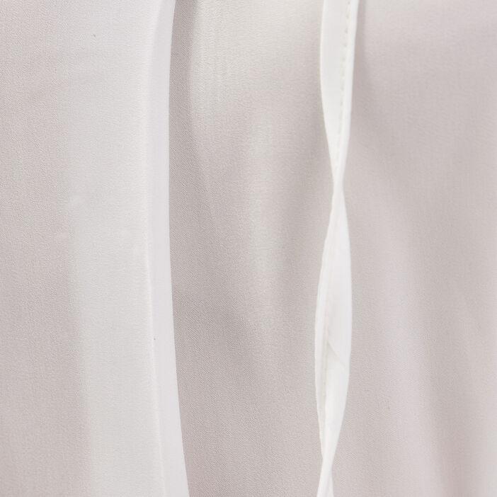 Blouse manches longues ecru femme